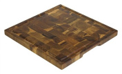 36cm Acacia End Grain Square Cutting Board w/ Juice Groove by Mountain Woods