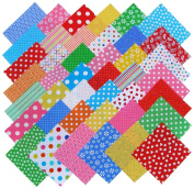Windham BASIC BRIGHTS Precut 13cm Charm Pack Cotton Fabric Quilting Squares Assortment Baum Polka Dots