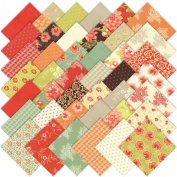 Moda Somerset Charm Pack, Set of 42 5x5-inch (12.7x12.7cm) Precut Cotton Fabric Squares