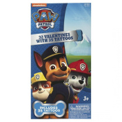 Valentines Day 32ct Paw Patrol with Tattoos Exchange Cards