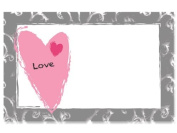 "50 pack ""Love"" Contemporary HeartEnclosure Cards"