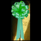 Mint Green Pull Bows with Tails - 20cm Wide, Set of 6