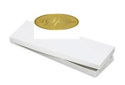 BundleOfBeauty HG78T - 4pack Mens Tie / Socks White Gift Wrap Packaging Box with Gold Seal Stickers