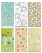 Premium Wedding & Baby Gift Wrap Wrapping Paper 6 Different 2.4m X 80cm Rolls / Pack Set Included!
