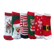 Giftpocket Assorted Adult Mid Calf Christmas Holiday Socks 6 pack