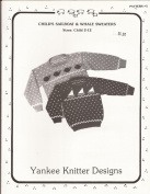 Child's Sailboat & Whale Sweaters - Yankee Knitter Designs Pattern #5 by Melinda Goodfellow - Knit Kids Sizes 2 -12 Pattern Only