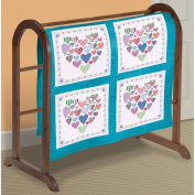 Janlynn 21-1489 Heart Filled with Hearts Quilt Blocks Stamped Cross Stitch, 46cm by 46cm , 6-Pack