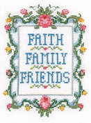 Candamar Designs 51539 Faith, Family and Friends Counted Cross-Stitch Kit
