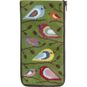 Stitch & Zip Needlepoint Eyeglass Case-SZ474 Birds of Colour