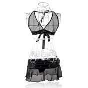 Museya Sexy See-through Mesh Pattern Halter-neck Style Sexy Underwear Lingerie Set - Free Size