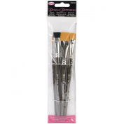 Weber 4-Piece Donna Dewberry Acrylic Brush Set, Includes No.2 Liner, No.12 Flat, 1.3cm Scruffy and 1.9cm Flat