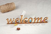 "Chipboard Word ""Welcome"""
