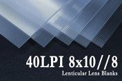 8x10//8 Flip Lenticular Lens Blanks w/ Instructions (Qty