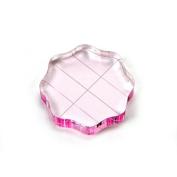 Pink Acrylic Stamping Block 6.4cm Round Grip