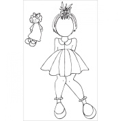 Prima Marketing Julie Nutting Mixed Media Cling Rubber Stamps, 8.9cm by 14cm , Adara