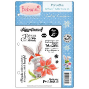 Crafter's Companion Bebunni EZMount Cling Stamp Set, 14cm by 22cm , Poinsettia
