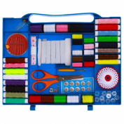 New Thread / bobbins Kit for all Sewing Machines - Sewing Kit 100pc Set with Travel storage box