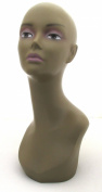 (MD-TinaB3) Realistic African Female Mannequin Head Pretty make-up