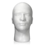 Male Styrofoam Head With Face