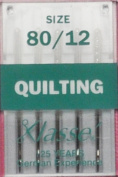 Klasse Size 80/12 Quilting Needles 5 Pack