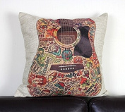 GC Colour Guitar Cotton Kid Room Office Decorative Pillow Cover HF22