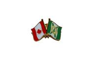 CAPE BRETON ISLAND & CANADA Friendship Metal Lapel Pin Badge .. New