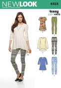 NEW LOOK 6323 Misses' Knit Leggings and Pullover Tunics, Size