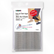 LEONIS Polyester Iron-On Hem Clothing Tape 1inch x 5.5yd (25mm x 5m) Light Grey [ 78023 ]
