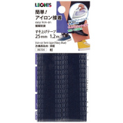LEONIS Polyester Iron-On Hem Clothing Tape 1inch x 1.3yd (25mm x 1.2m) Navy Blue [ 95724 ]