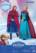 Simplicity Creative Patterns S0745 Disney Frozen Costumes for Misses', Size