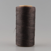 {Factory Direct Sale} 260M 1mm 150D Flat Waxed Wax Thread Cord Sewing Craft For DIY Leather Tool Hand Stitching -- Light Coffee