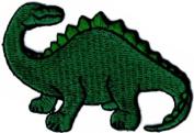 Green Dinosaur - Brachiosaurus - Embroidered Sew or Iron on Patch