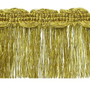 Expo International Maeve Metallic Braid Fringe Trim Embellishment, 10-Yard, Gold
