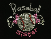 Baseball Sister Rhinestone Transfer Iron On Hot Fix Motif Bling Applique - DIY