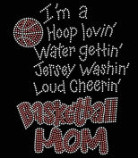 Basketball Hoop Loving Rhinestone Transfer Iron On - DIY