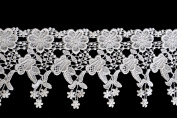 Altotux 11cm White Venise Vintage Victorian Floral Flower Lace Trim By Yard