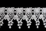 Altotux 11cm White Venise Vintage Victorian Floral Flower Lace Trim By Yard