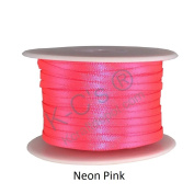 0.3cm Satin Ribbon Double Faced 100 Yards Spool 100% Polyester - Neon Pink