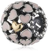 Pandora 791283EN40 Silver Charm Pink Hearts