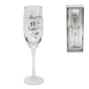 18th Birthday Stars Champagne Flute Glass Gift