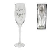 Birthdays by Juliana - Champagne Flute - Happy Birthday