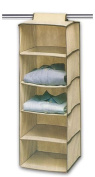 Moseeg™ Hanging Clothes Storage Box (5 Shelving Units) Durable Accessory Shelves - Eco- Friendly Closet Cubby, Sweater & Handbag Organiser - Keep Your Wardrobe Clean & Tidy. Easy Mount, Ideal for all Clothing Types