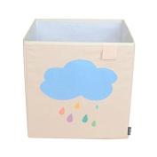 Toy Storage Box Bin Organiser Collapsible, Cloud- 100% Money Back Guarantee