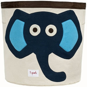3 Sprouts Storage Bin, Blue Elephant