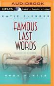 Famous Last Words [Audio]