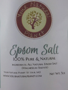 Natural Planet Epsom Salt 2.3kg - Magnesium Sulphate Bath Salt - For Back Pain, Skin Problems, Aching Limbs, Muscle Strains, Healing Cuts, Muscle Pain and Cramps, Relieving Stress, Eliminating Toxins, and Soothing Aching Feet.
