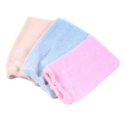Set of 3 Soft Terry Cloth Soap Pouch Sponges Bath & Shower Scrub