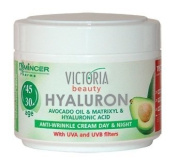 Hyaluron Avocado Oil & Matrixyl Anti-Wrinkle Cream for Day & Night With UV Filters (Ages 30+)- 50ml by Victoria Beauty