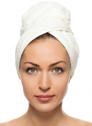 Comfy White Microfiber Turban Hair Towel