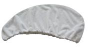 Sinland Ultra Absorbent Microfiber Twist Hair Turban Dry Cap Bath Head Wrap Hair Wrap Cap 80cm X 26cm White